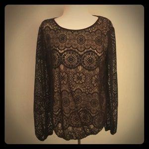 Lace long sleeve shirt